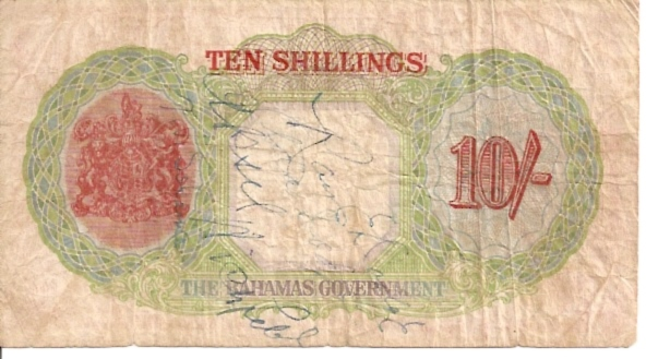 The Bahamas Government  10 Schillings  1936 Issue Maße: 200 X 100, Art: JPEG