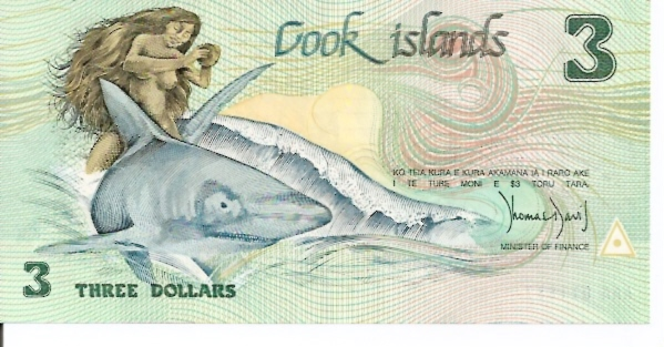 Government of the Cooks Island  3 Dollars  1987 ND Issue Maße: 200 X 100, Art: JPEG