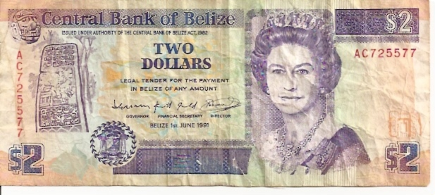 Government of Belize  2 Dollars  1990 Issue Maße: 200 X 100, Art: JPEG