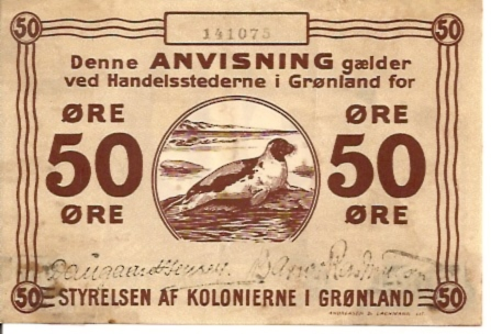 Anvisning  50 Ore  Not in circulation anymore Maße: 200 X 100, Art: JPEG