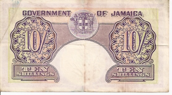 Government of Jamaica  10 Schilling  April 1955 Issue Maße: 200 X 100, Art: JPEG