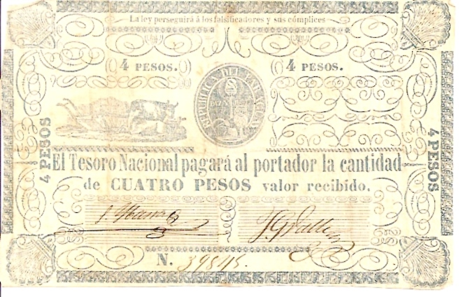 Extremely Rare Currency  4 Pesos  No records are found Maße: 200 X 100, Art: JPEG
