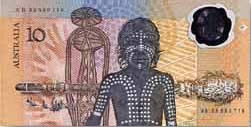 Bank of Australia  10 Dollars  1988 Issue  First Polymer currency of the world Maße: 200 X 100, Art: JPEG