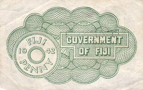 Government of Fiji  1 Penny  July 1942 Issue Maße: 200 X 100, Art: JPEG